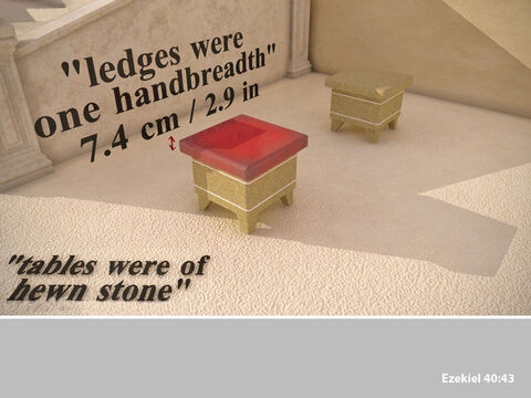 They had an overlapping ledge the width of a hand. – Slide 30