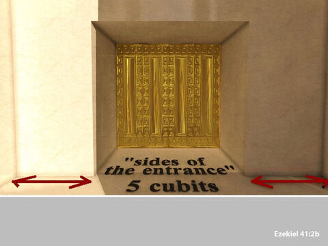 And the sides were 5 cubits wide. – Slide 3