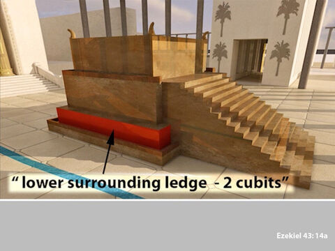 Its lower surrounding ledge would be two cubits. – Slide 8