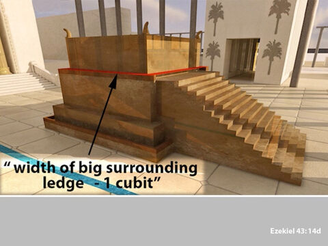 And that had a surrounding ledge of one cubit. – Slide 11