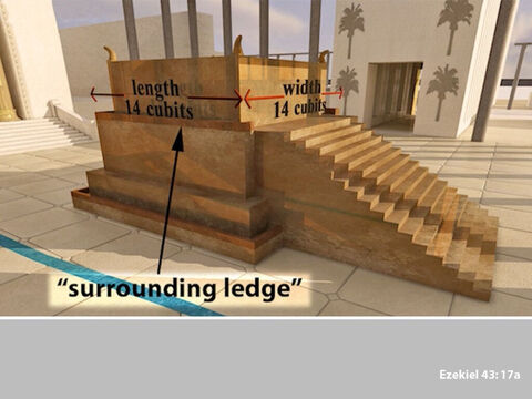… with a surrounding ledge of 14 cubits … – Slide 14