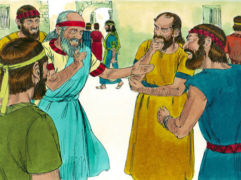 Ezekiel also told the rebellious Jews about God's promise to bring them back to their own land when they had repented and turned back to Him. – Slide 23