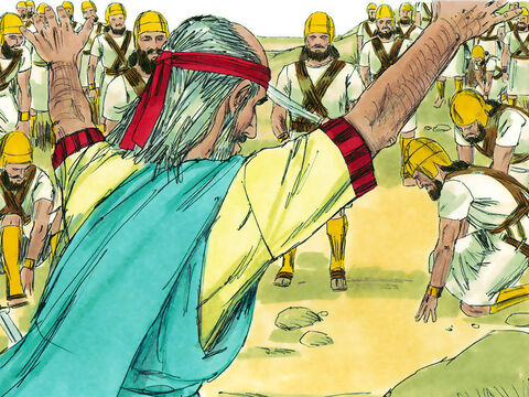 Ezekiel obeyed. The bodies started breathing and a vast army started coming to life and standing to their feet. – Slide 8