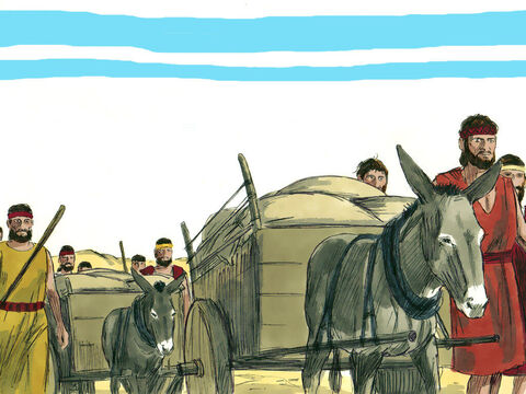 Ezra asked everyone to fast and pray for a safe trip to Jerusalem. He did not want to ask the King for soldiers to escort them and protect them as he had told the king God protects those who turn to Him and shows His anger against those who forsake Him. The party set off trusting God to look after them and their valuable cargo. – Slide 6