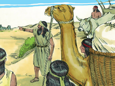 At last Ezra and the Jews travelling with him got to Jerusalem. – Slide 8