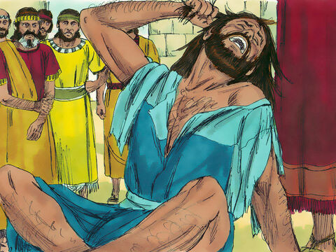 Ezra was appalled at this news. He tore his tunic and cloak and pulled hair from his head and beard in grief. Those who loved and feared the Lord God gathered round Ezra. Ezra continued to show how upset he was about this disobedience until the time of the evening sacrifice. – Slide 12