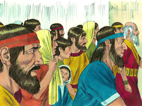 Ezra rose up and put the leading priests, Levites and people under oath to do what had been suggested. An order was given for all the exiled men who had returned to gather in Jerusalem or have their property confiscated. – Slide 15