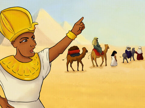 Pharaoh found out about the lie. <br/>Back to Abram he returned Sarai. <br/>Pharaoh listened to God and did not hurt them.  <br/>He told everyone, 'They are under God's protection!' – Slide 5