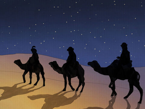 In their sleep that night, the wise men did dream. <br/>An angel told them not to tell Herod where they had been. <br/>Herod was jealous and wanted to kill the babe. <br/>Go home another way and do not delay! – Slide 12