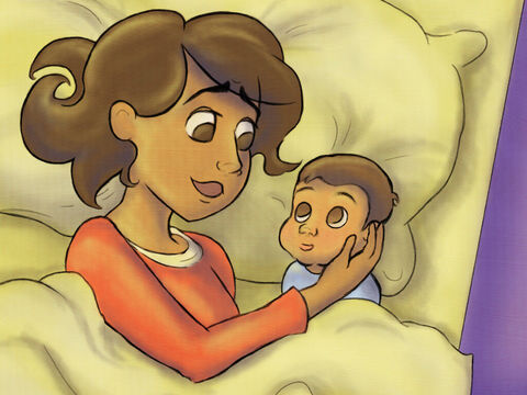 God happily answered Hannah's prayer and a baby boy finally came. <br/>Hannah and Elkanah loved and carried him. Samuel was his name. – Slide 6