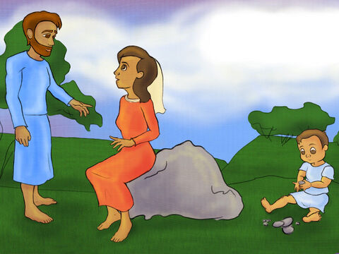Hannah promised God that He could keep Samuel. She told Elkanah what she wanted to do. <br/>Elkanah understood what had to be done. The promise must be kept true. – Slide 7