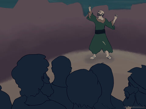 When the people heard Jonah's message, they were full of fear. <br/>They immediately repented, wore sackcloth and fasted. – Slide 28