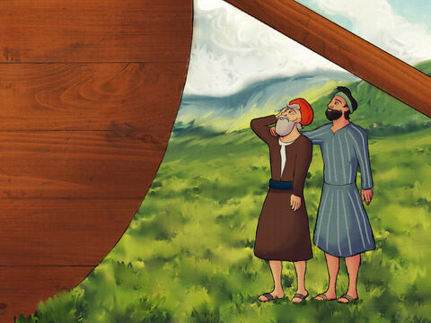 Noah obeyed God and did what he was told. <br/>When the Ark was finished Noah was 600 years old. – Slide 4