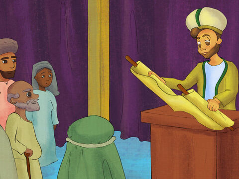 God made Samuel the priest at the Temple. Samuel worshiped God and tried to do what was right. He obeyed God's laws and blessed God's people by acting right. – Slide 7