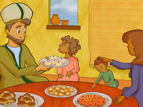 Eli and his sons were dead, and Samuel became Israel's priest. <br/>He loved God and he loved the people. He fasted, prayed, and celebrated God's feasts. – Slide 1