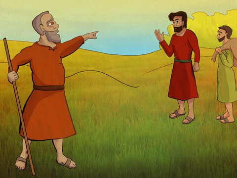 Kish's prized donkeys got lost. <br/>He told Saul to search the grounds. <br/>'Take my servant and find my donkeys. <br/>They could get hurt, they must be found!' – Slide 2