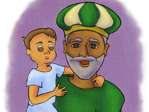Samuel grew up with Eli the priest. He grew stronger and wiser each year. – Slide 1