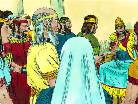 King Nebuchadnezzar took Jehoiachin, his mother and wives as prisoners. He also picked the most educated Jews and skilled craftsmen to be taken back to Babylon to work for him. Among them were Daniel and three Jews given the Babylonian names Meshach, Shadrach and Abednego. – Slide 3