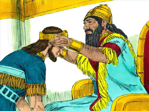King Nebuchadnezzar appointed a new King called Zedekiah to rule over Judah. He too ignored the warnings of the prophet Jeremiah to obey God. Nine years later he decided to rebel against Babylon and stop paying the high taxes they demanded. – Slide 4