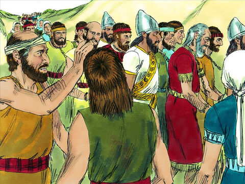 Those that survived the siege were rounded up, chained as prisoners, and marched off to Babylon. Only a few of the poorest people were left to farm the land. – Slide 13