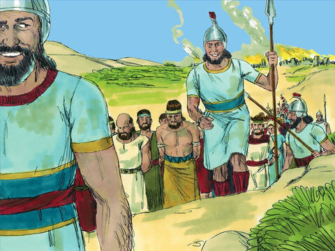 Jeremiah the prophet had warned these people for many years that unless they repented and started to live as God wanted, then they would be captured by the Babylonians. They had foolishly ignored all these warnings and now they would be prisoners living in exile. – Slide 14