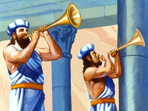 Trumpeters sounded a fanfare. – Slide 5