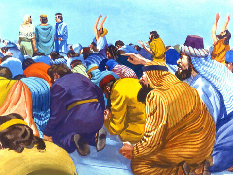 'Look,' the Chaldean said. 'It's just as we thought. The three of them see, they are not bowing down. They are refusing to worship the golden image. – Slide 14