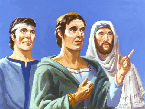The three men had been brought as captives from the distant land of Judah. Their names had been changed but because of their abilities they had been given high positions in the Kingdom. – Slide 16
