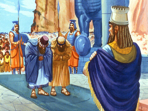 The two Chaldeans lost no time in reporting what they had seen to the King. They were jealous of Shadrach, Meshach and Abednego. – Slide 20