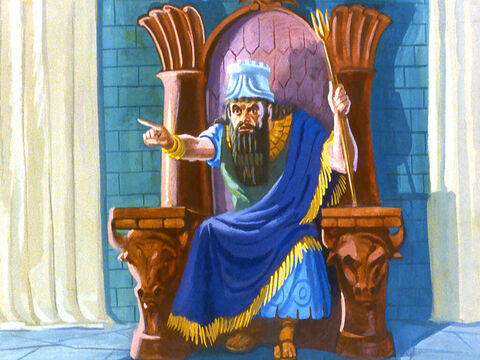 'How dare these men disobey me!' shouted the King. 'Bring them here at once. – Slide 22