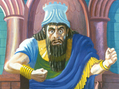 The King was furious. He commanded the furnace be heated up seven times hotter. – Slide 26