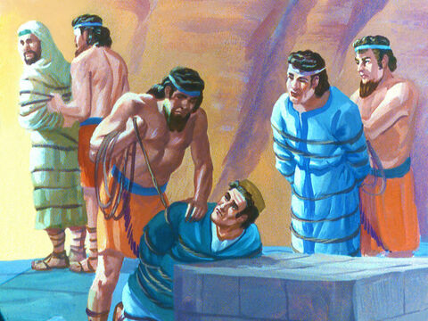 And the three young Jewish men were securely tied. – Slide 29