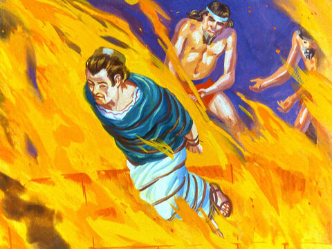 Meshach whose Jewish name meant 'one who is like God' was hurled into the furnace. – Slide 32