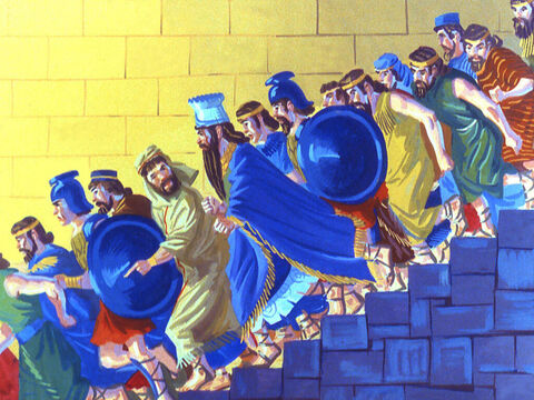 Forgetting about his dignity the King ran with the rest of the people to get a better look. – Slide 37