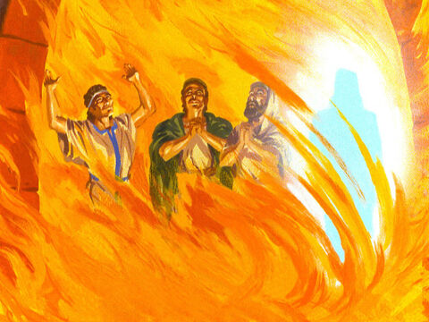 'I see four. And they are loose and walking around. The fourth man looks like the Son of God.' – Slide 40