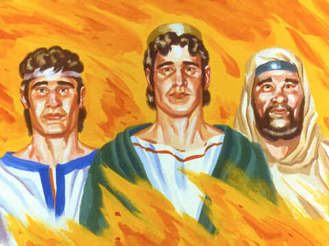 The people were amazed as the three Hebrew boys walked out of the furnace unharmed. – Slide 42