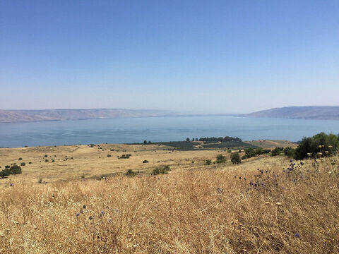 Lake Galilee is about 13 miles ((21km) long, and 8.1 miles (13km) wide. – Slide 2