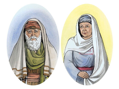 … there lived a priest named Zechariah who belonged to the priestly division of Abijah, and he had a wife named Elizabeth, who was a descendant of Aaron. – Slide 2