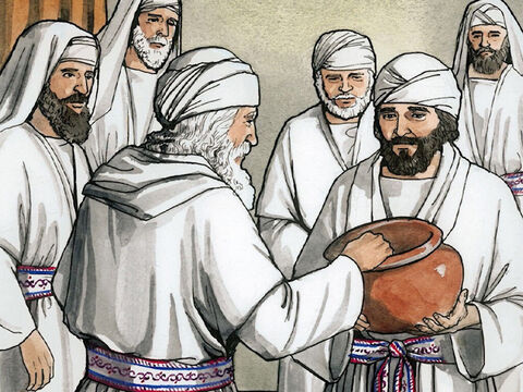… he was chosen by lot, according to the custom of the priesthood, to enter the holy place of the Lord and burn incense. – Slide 6