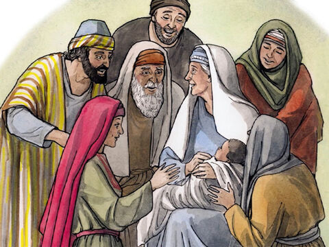 … and your wife Elizabeth will bear you a son; you will name him John. Joy and gladness will come to you, and many will rejoice at his birth, for he will be great in the sight of the Lord. – Slide 10
