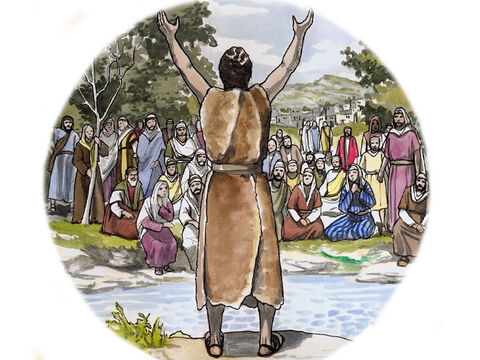 'And he will go as forerunner before the Lord in the spirit and power of Elijah, to turn the hearts of the fathers back to their children and the disobedient to the wisdom of the just, to make ready for the Lord a people prepared for Him.' – Slide 12