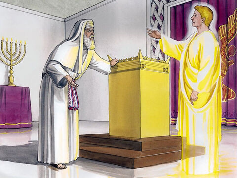 Zechariah said to the angel, 'How can I be sure of this? For I am an old man, and my wife is old as well.' The angel answered him, 'I am Gabriel, who stands in the presence of God, and I was sent to speak to you and to bring you this good news. – Slide 13