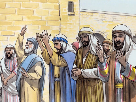 Now the people were waiting for Zechariah, and they began to wonder why he was delayed in the holy place. – Slide 15