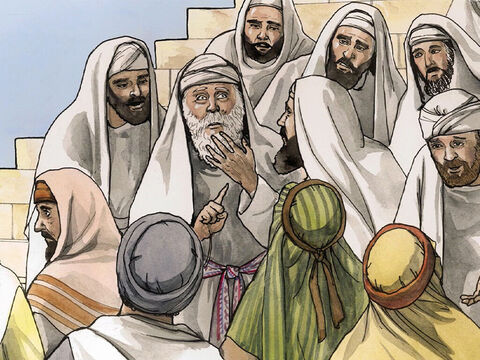 When he came out, he was not able to speak to them. They realised that he had seen a vision in the holy place, because he was making signs to them and remained unable to speak. – Slide 16