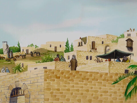 In the sixth month of Elizabeth's pregnancy, the angel Gabriel was sent by God to a town of Galilee called Nazareth … – Slide 1