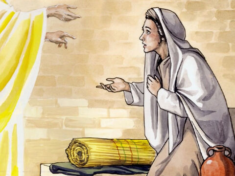 Mary said, 'Yes, I am a servant of the Lord; let this happen to me according to your word.' Then the angel departed from her. – Slide 9
