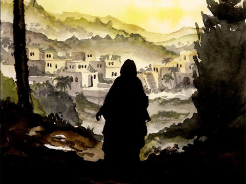 In those days Mary got up and went hurriedly into the hill country, to a town of Judah, and entered Zechariah's house and greeted Elizabeth. – Slide 1