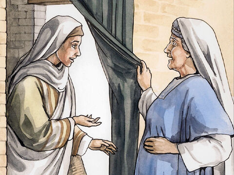When Elizabeth heard Mary's greeting, the baby leaped in her womb, and Elizabeth was filled with the Holy Spirit. She exclaimed with a loud voice, 'Blessed are you among women, and blessed is the child in your womb! – Slide 2