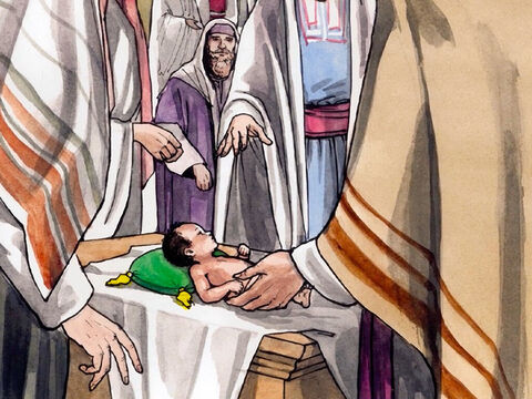 On the eighth day they came to circumcise the child, and they wanted to name him Zechariah after his father. – Slide 2