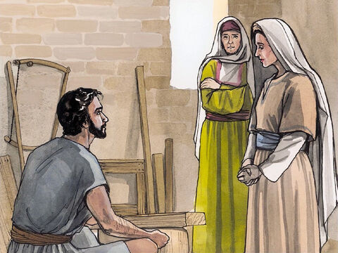 Now the birth of Jesus Christ happened this way. While his mother Mary was engaged to Joseph, but before they came together, she was found to be pregnant through the Holy Spirit. Because Joseph, her husband to be, was a righteous man, and because he did not want to disgrace her, he intended to divorce her privately. – Slide 1